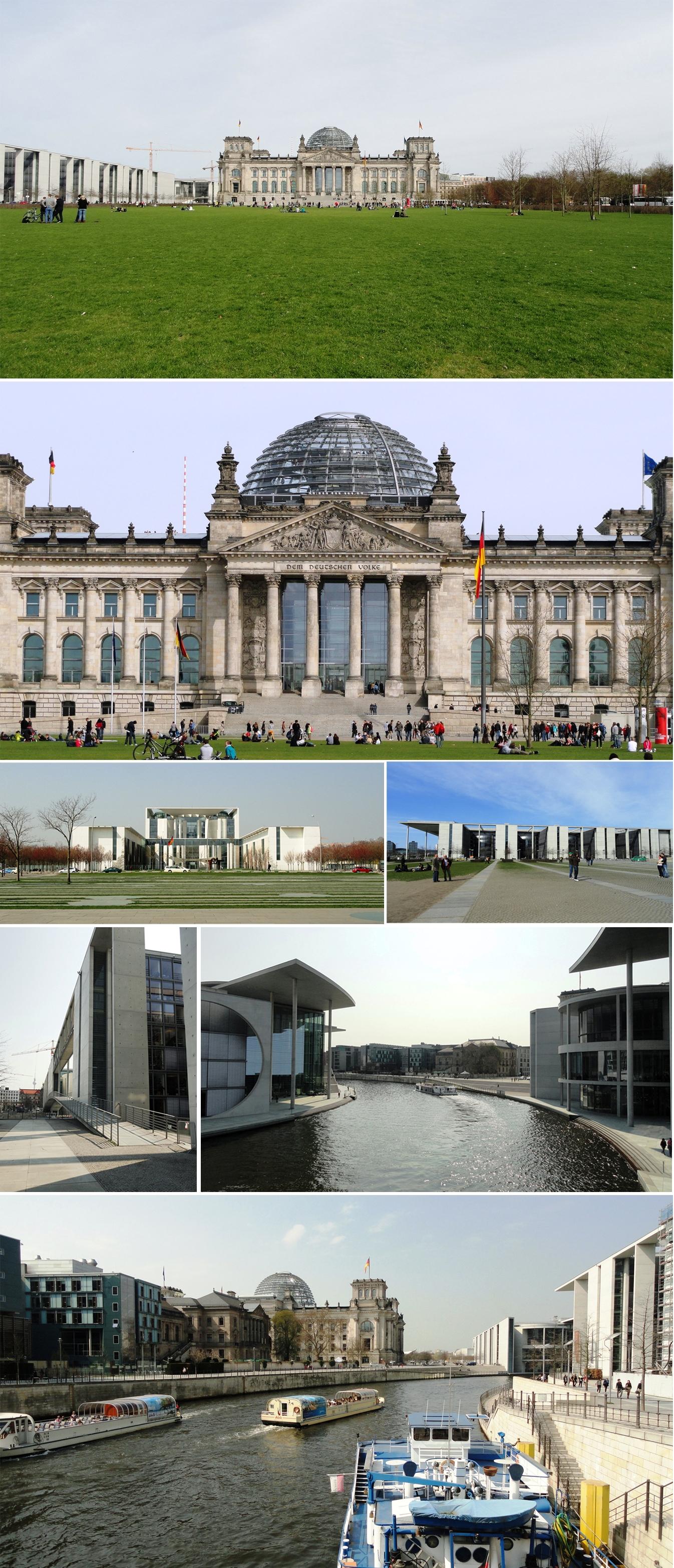 Reichstag, Deutscher Bundestag et Bundeskanzleramt