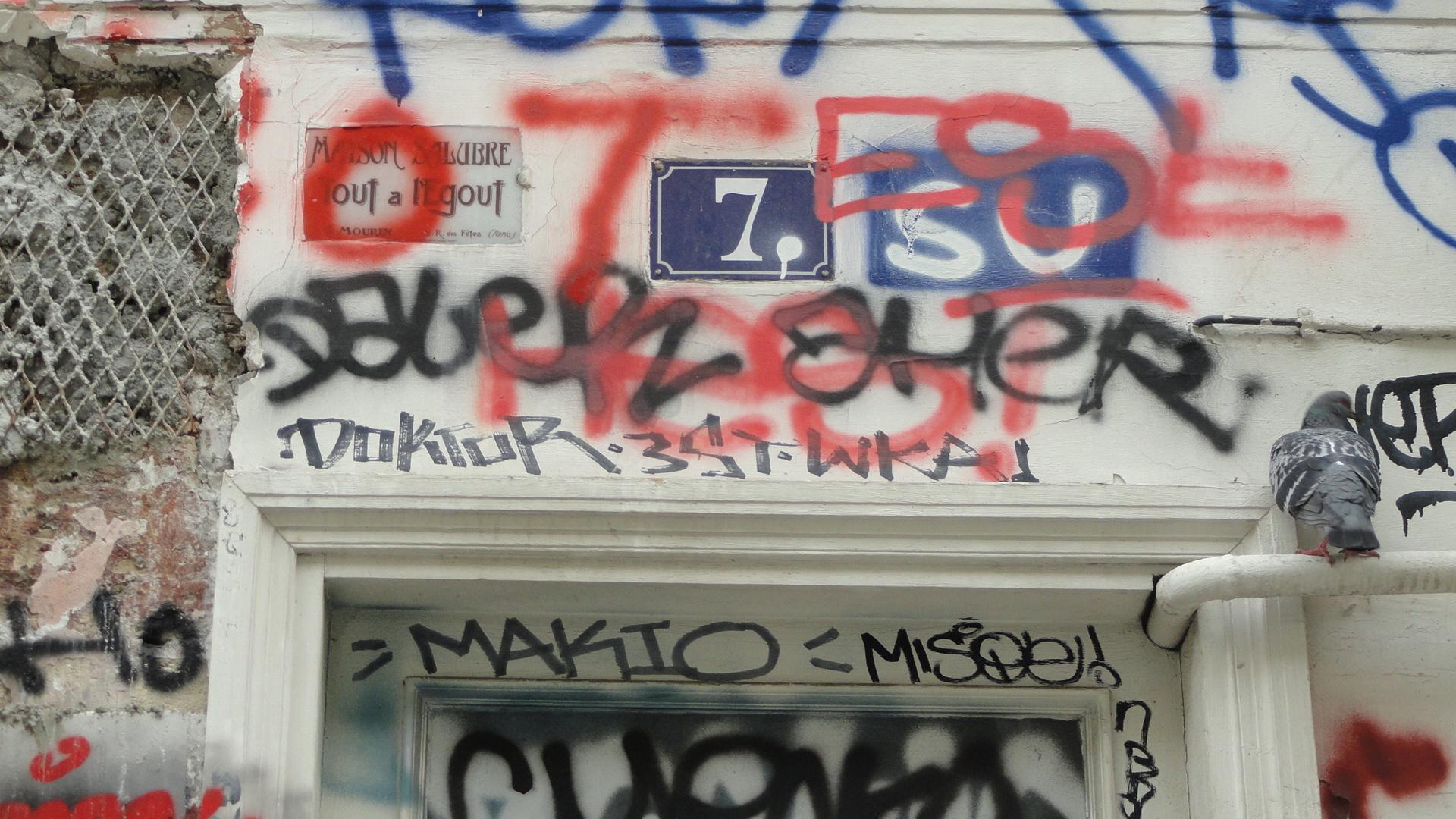 Rue Denoyez, Paris 20e - Le n°7, Maison Salubre