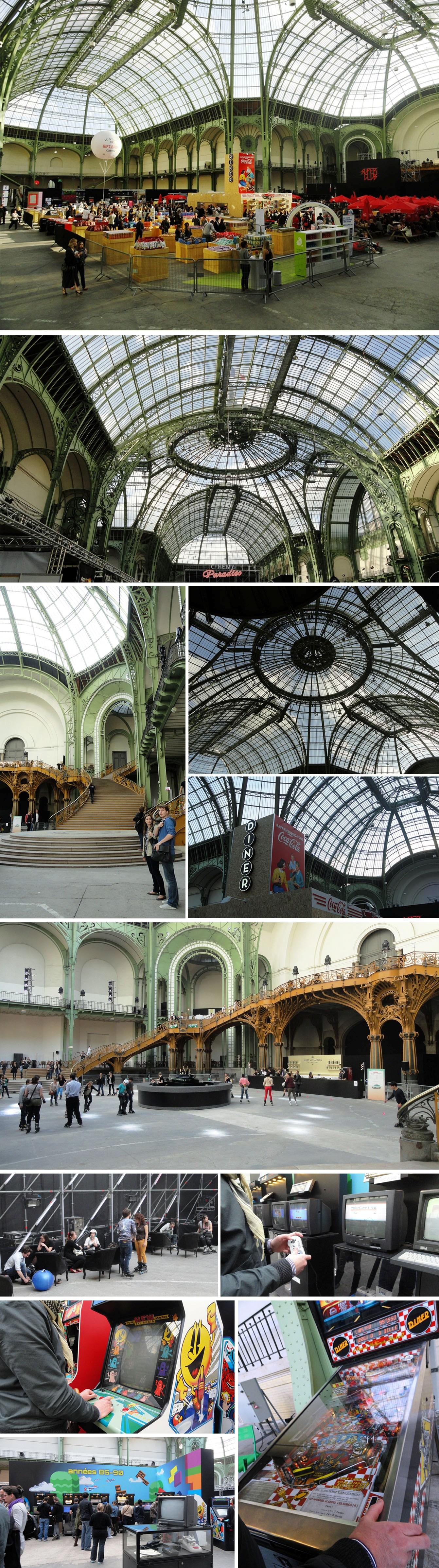 Paradiso Grand Palais Coupole roller dancing jeux vidéos