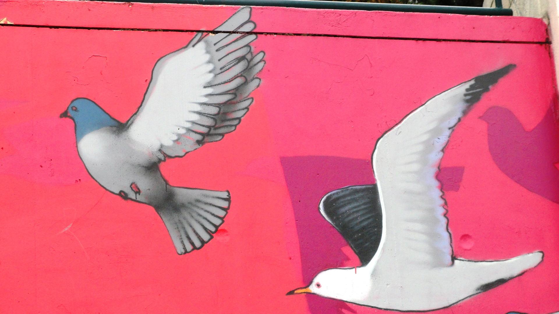 Parc de Belleville - Fresque de SETH