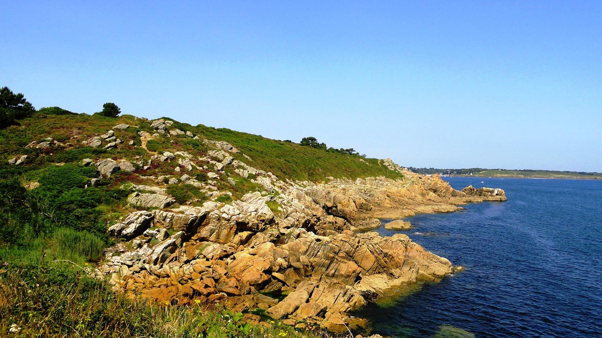 La côte entre Port Manech et la plage de Rospico