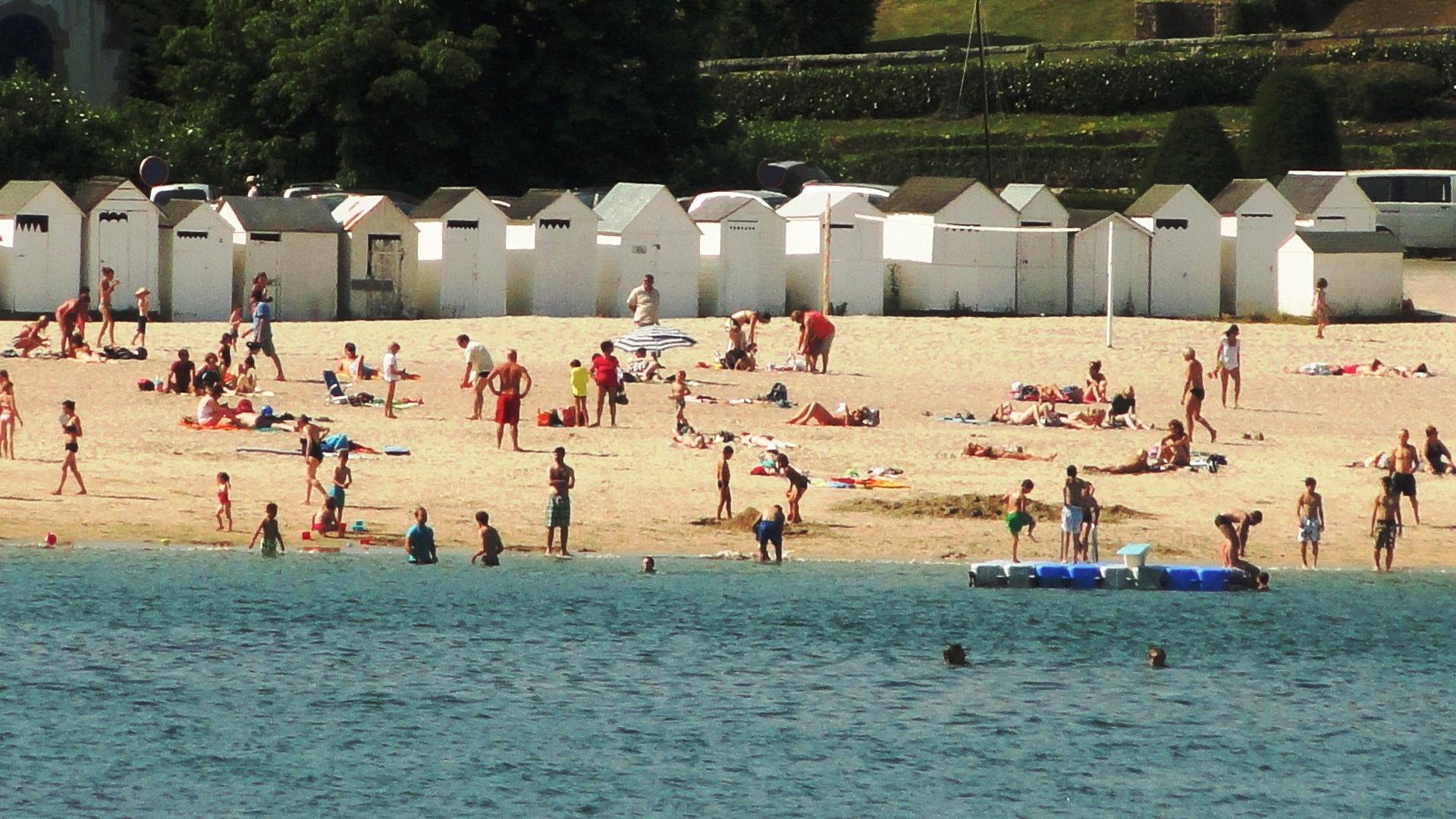 Les cabines de plage de Port Manech