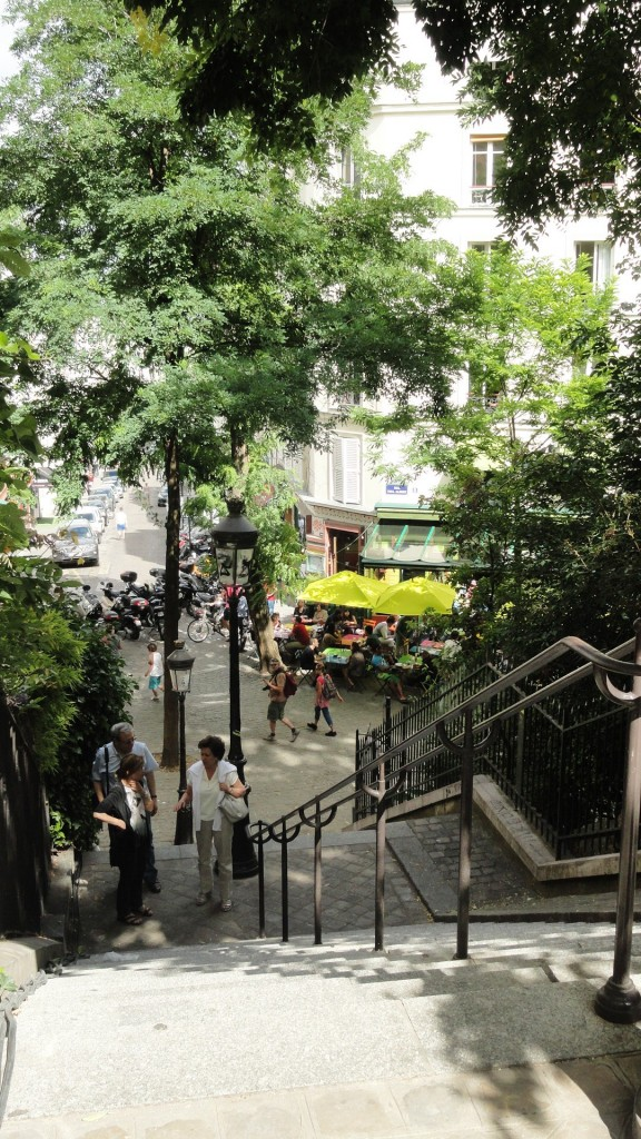 Promenade dans Montmartre - Rue Maurice Utrillo, Escaliers