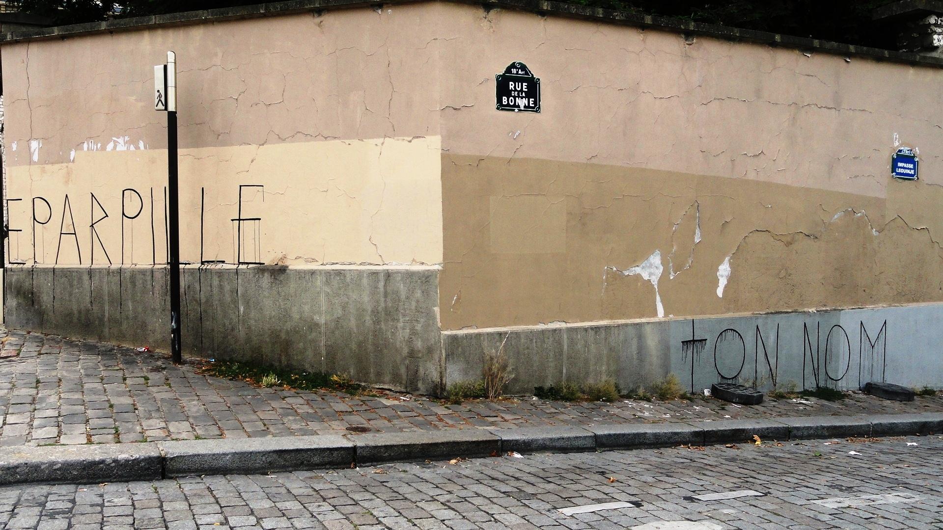 Rue de la Bonne - Eparpille ton nom