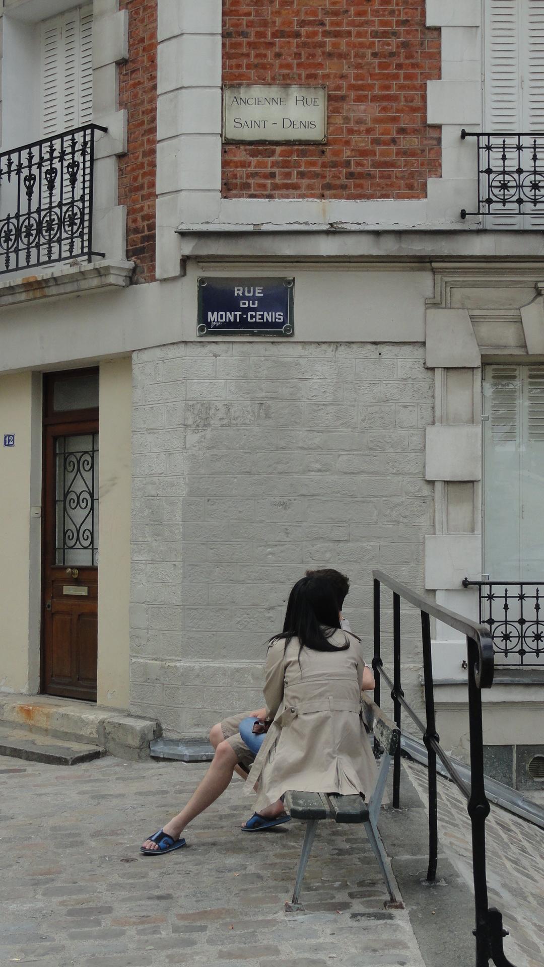 Montmartre - La rue du Mont Cenis et ses escaliers