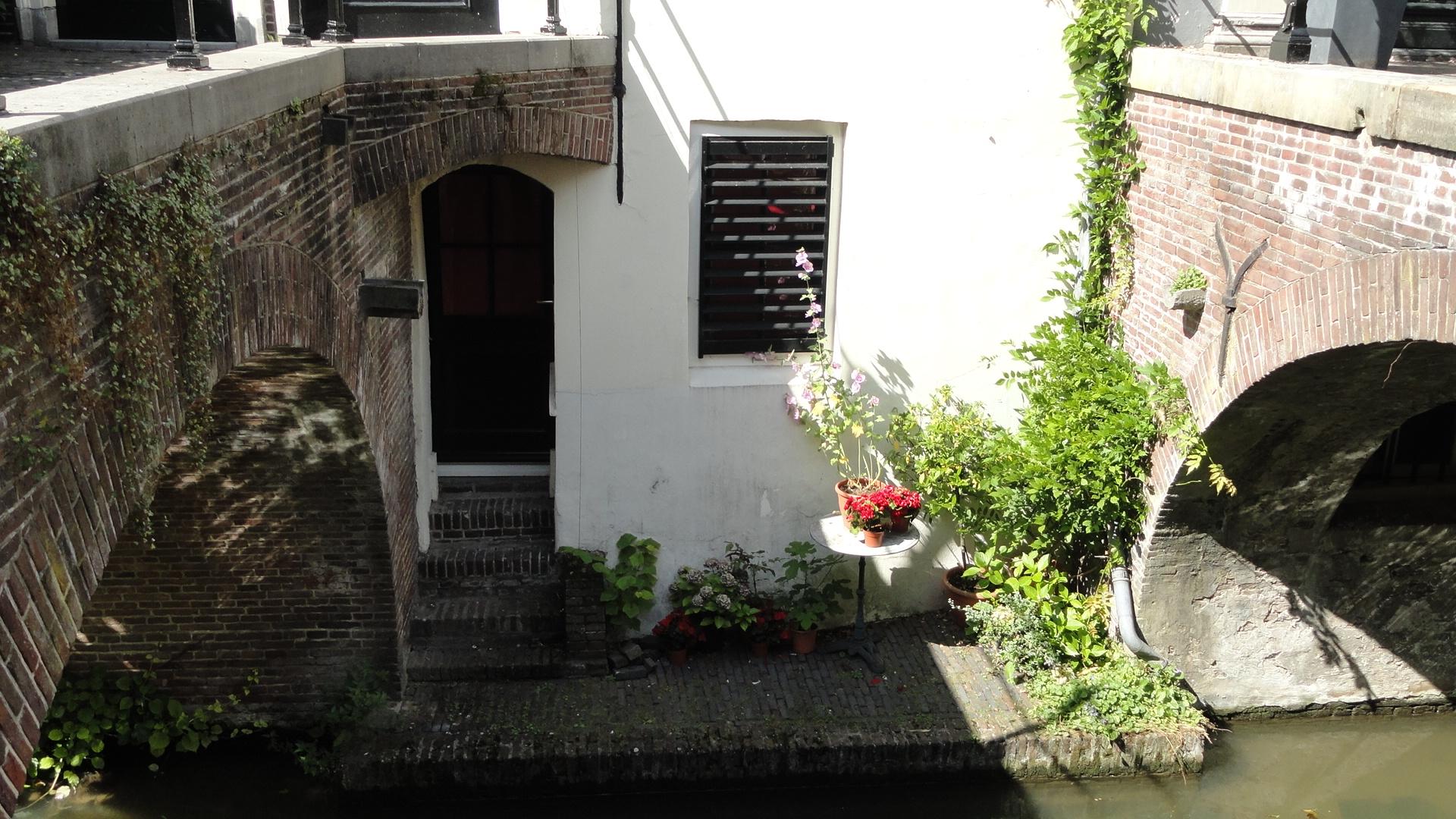 Utrecht - Terrasse privée au bord du Nieuwegracht