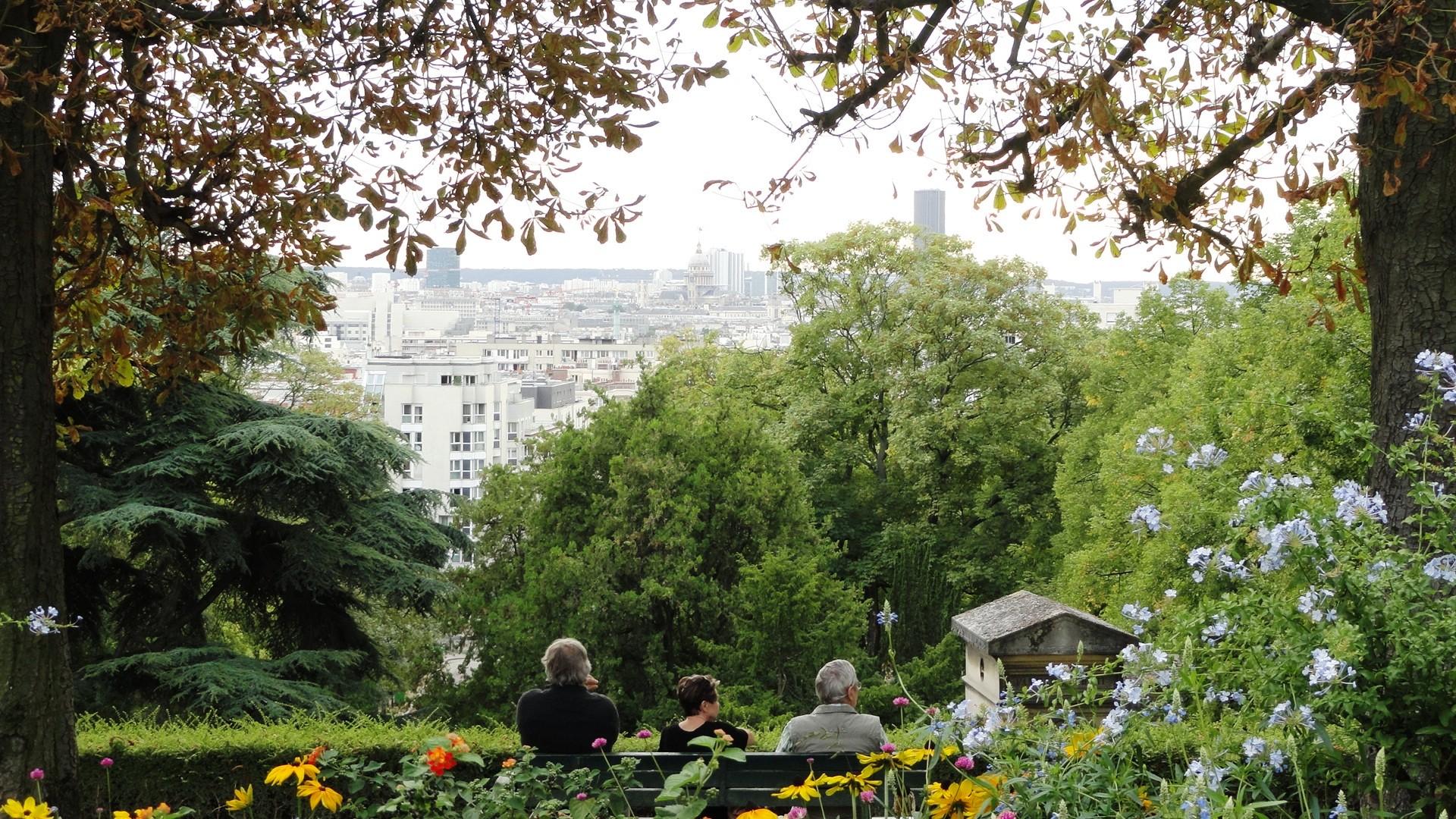Le cimetière du Père Lachaise - Vue sur Paris