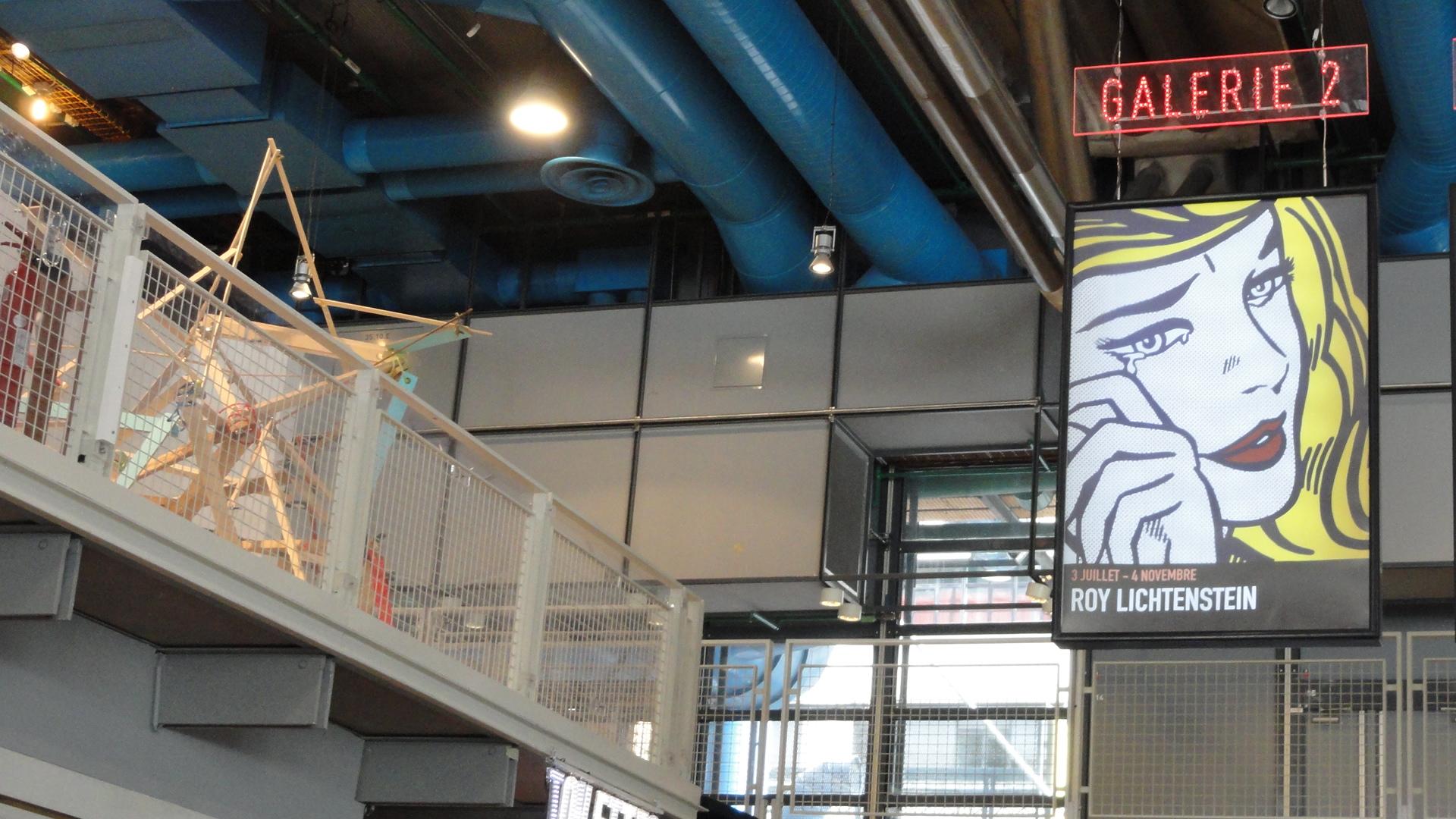 Rétrospective de Roy Lichtenstein, Centre Pompidou - Accueil