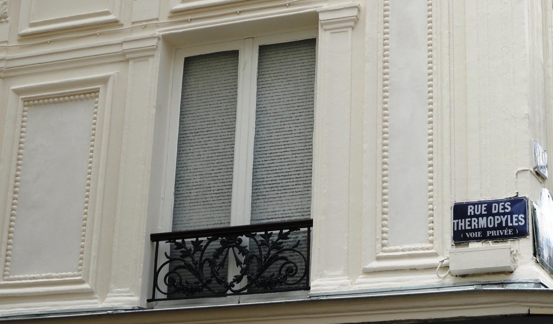Rue des Thermopyles - Plaque de rue