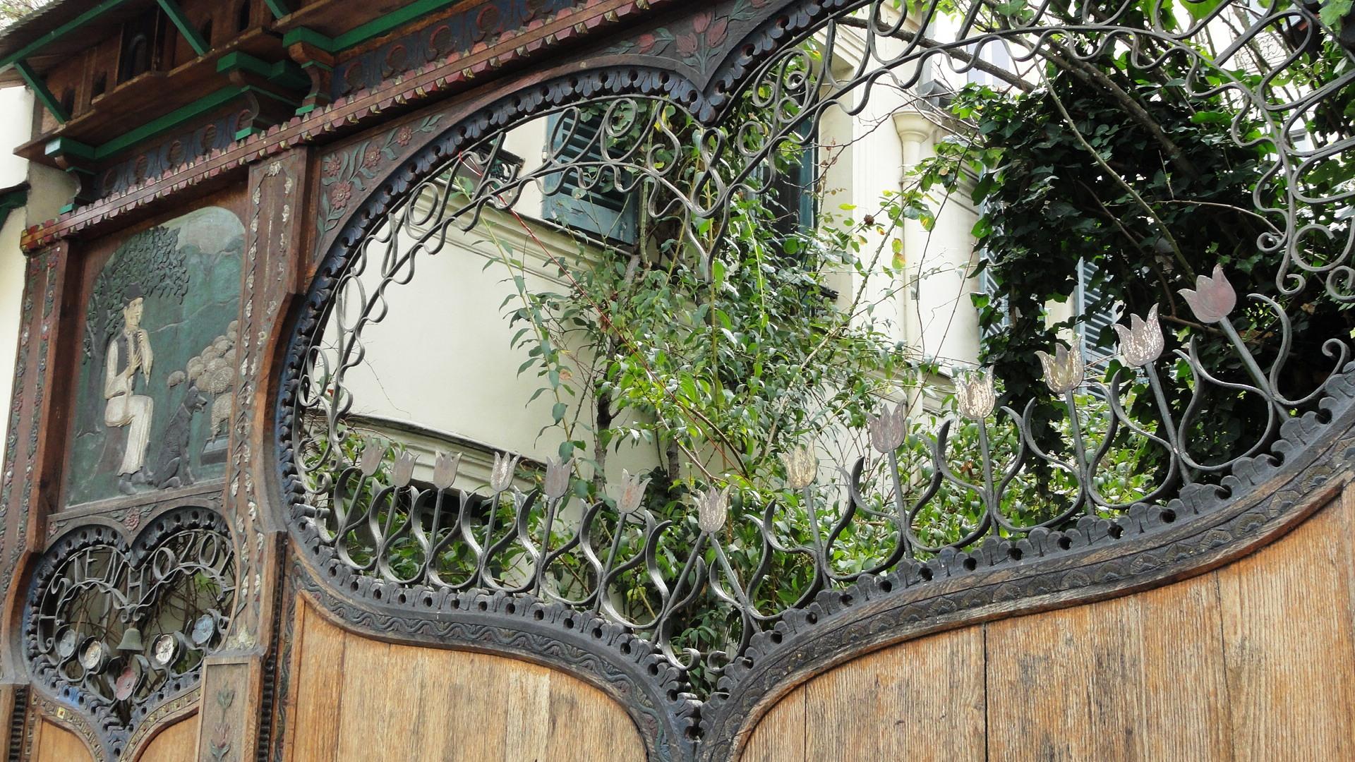 La Cité Bauer, Paris 14e - Porte coeur