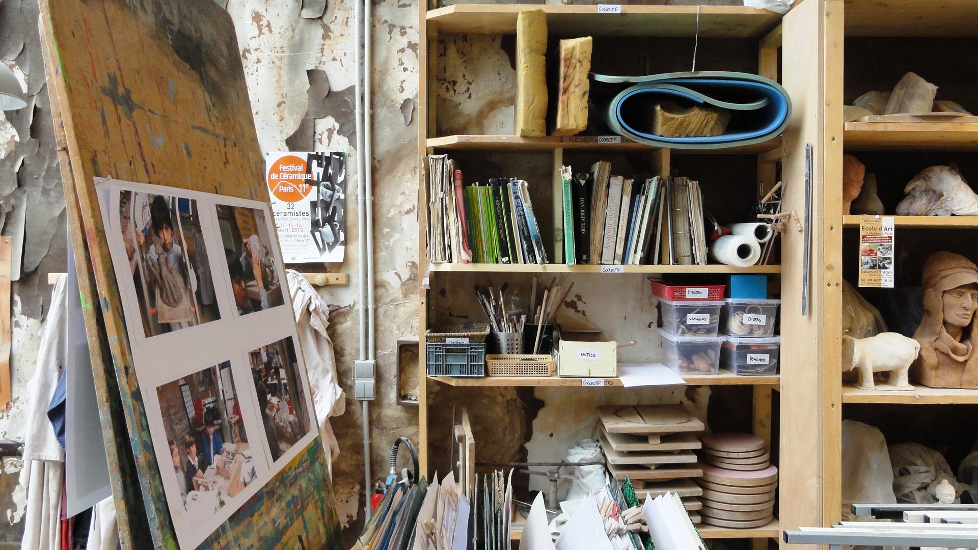 Villa d'Alésia, Paris 14e - Atelier d'artiste