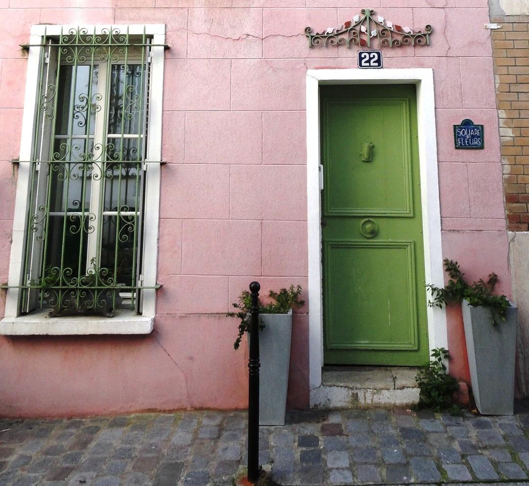 Rue Ligner, Paris 20e - Maison rose