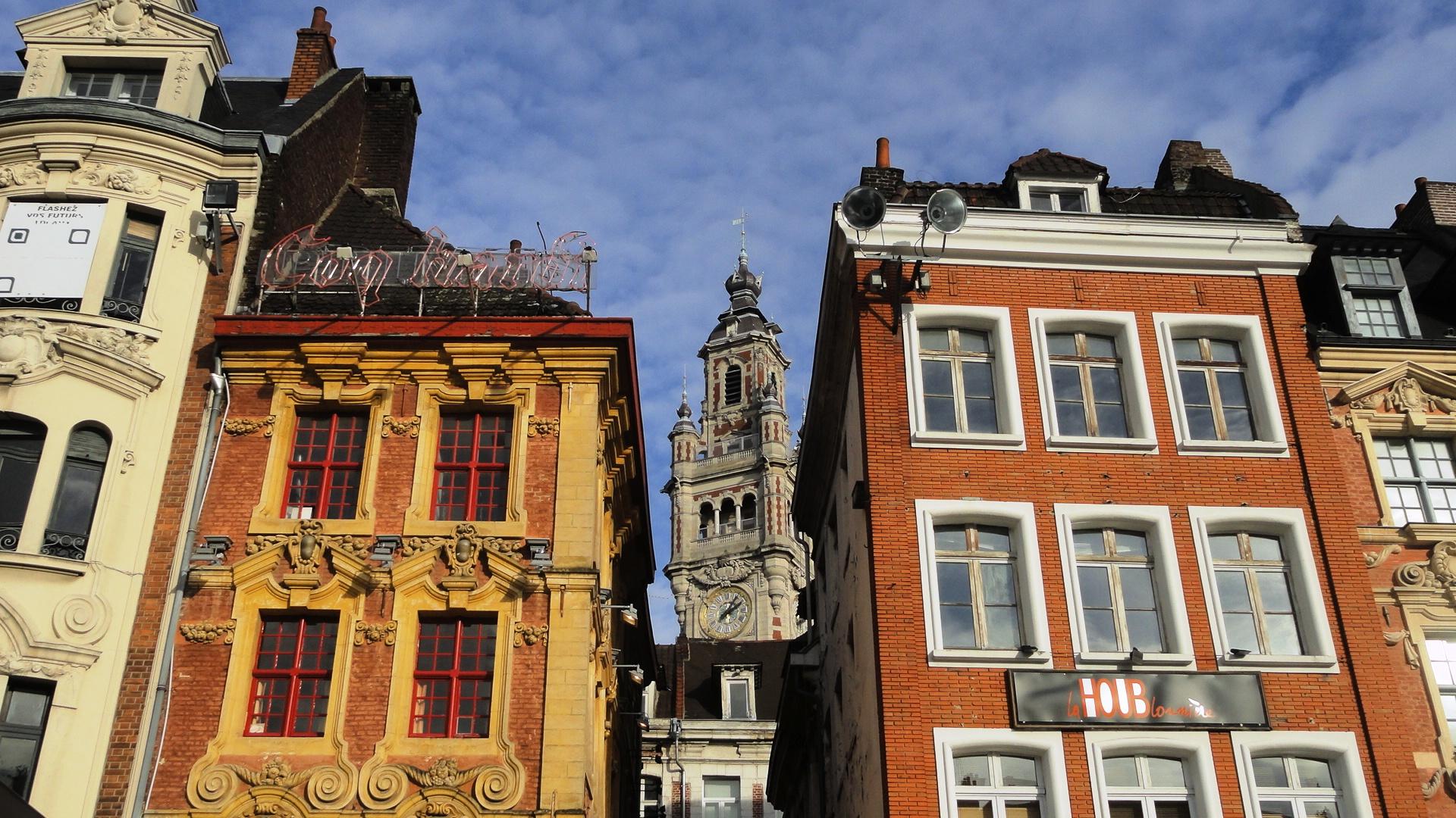 Lille - Grand' Place - Le beffroi