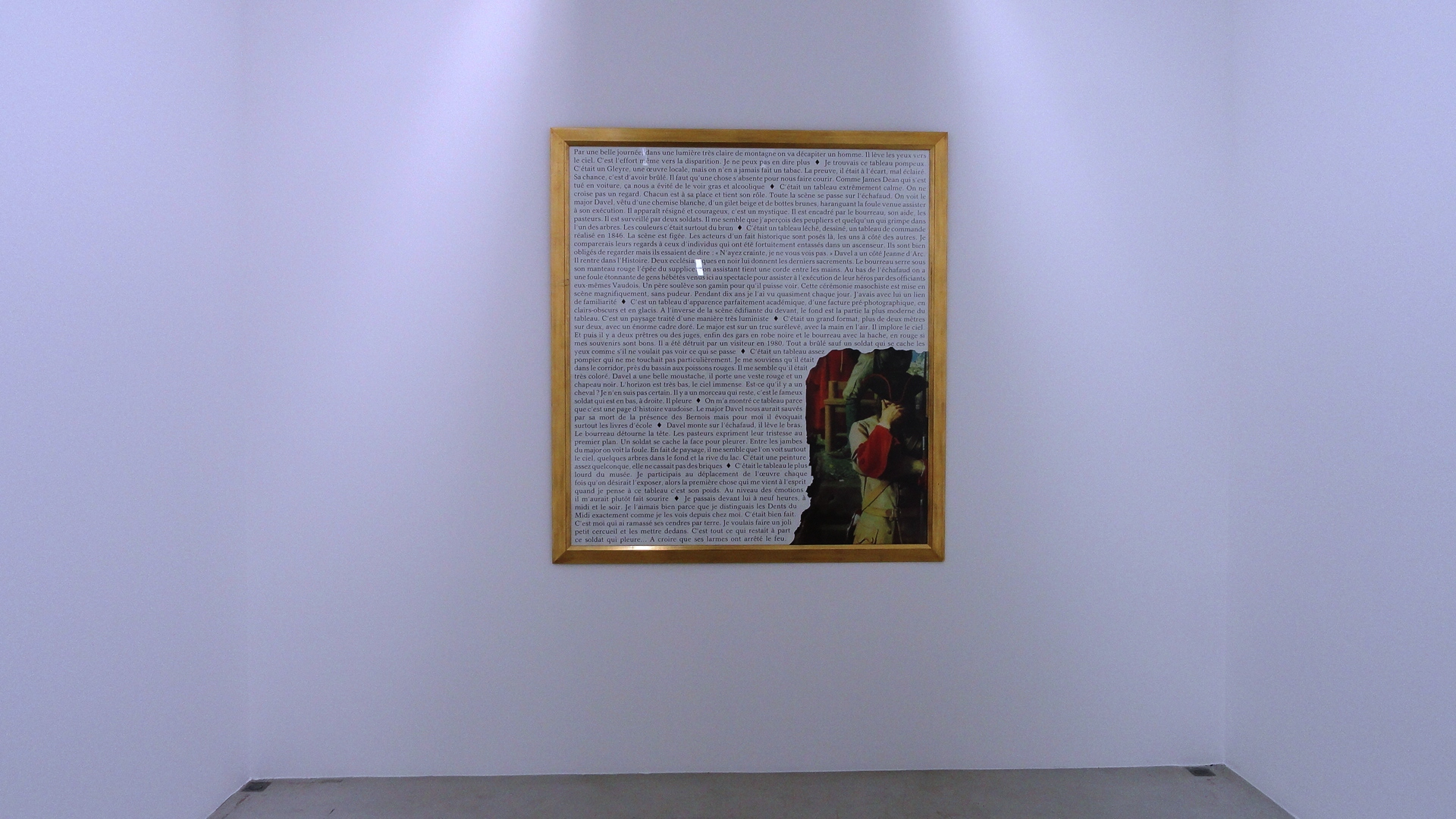 Galerie Perrotin - Sophie Calle, Dérobés - Major Davel