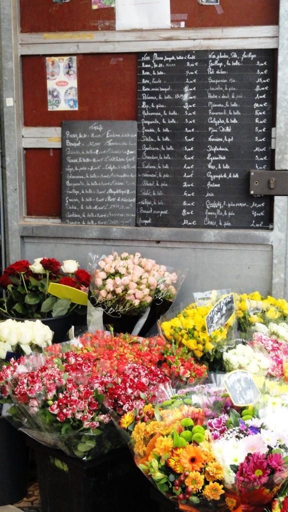 Marché des Enfants Rouges, rue de Bretagne - Fleuriste