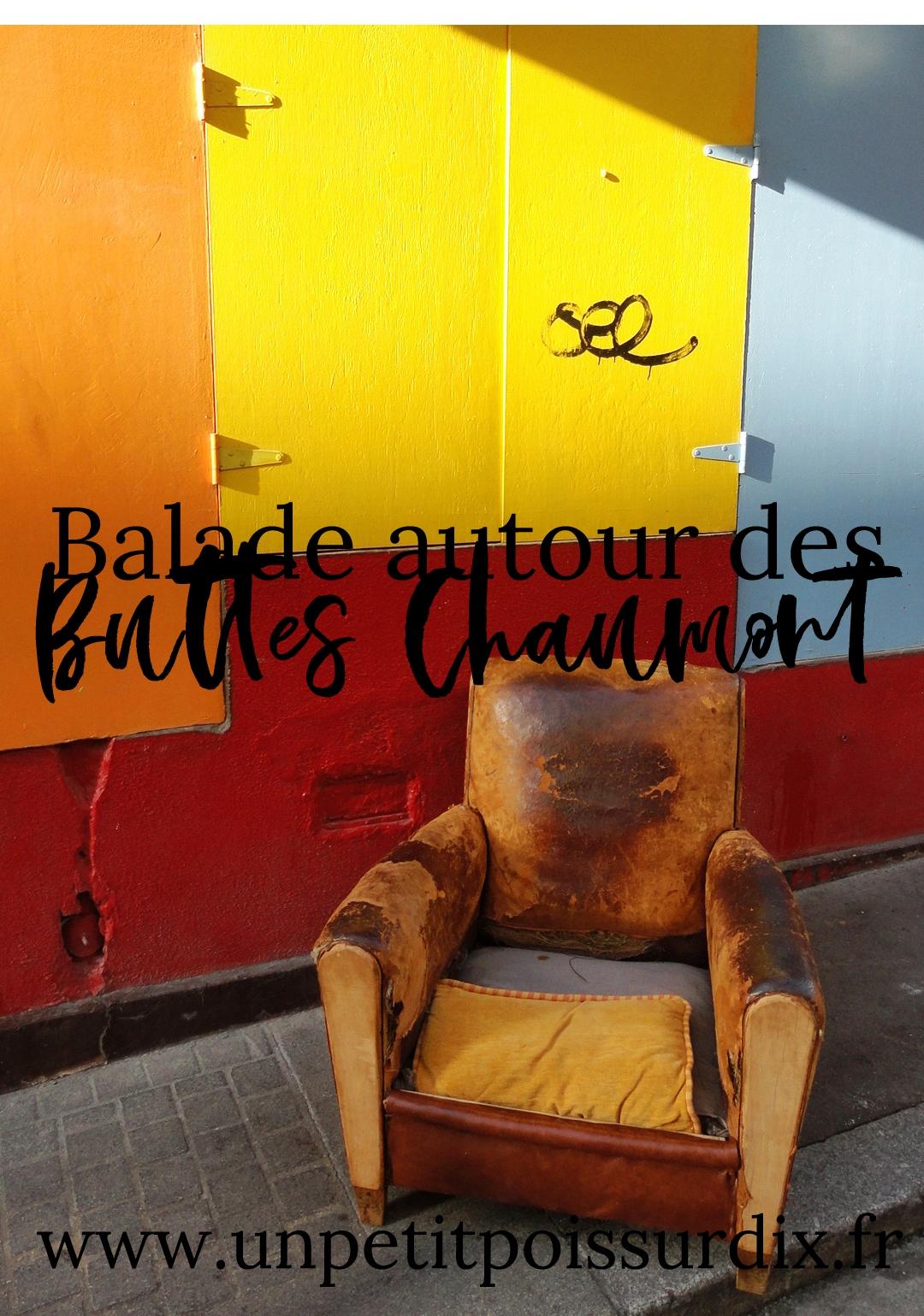 Balade autour des Buttes Chaumont