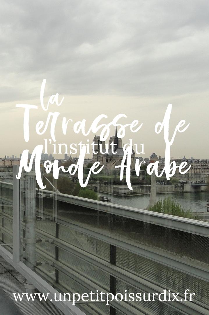 La terrasse de l'Institut du Monde Arabe