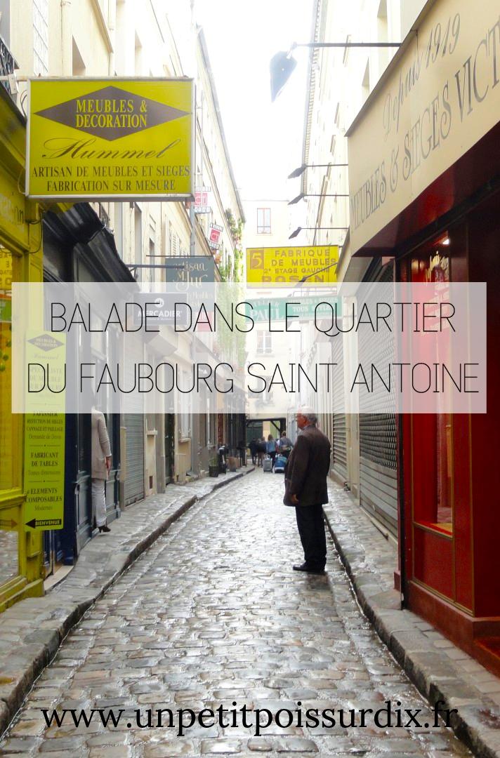 Balade dans le Faubourg Saint Antoine - Paris 12e