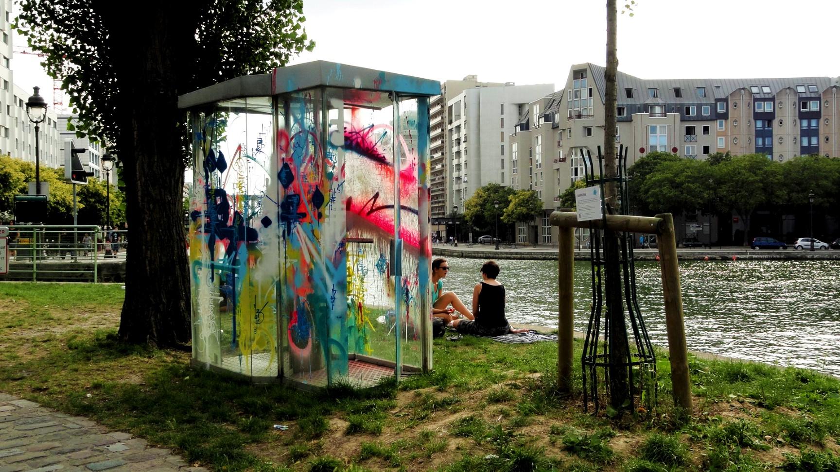 Canal de l'Ourcq - Paris - Parc de la Villette - Street art
