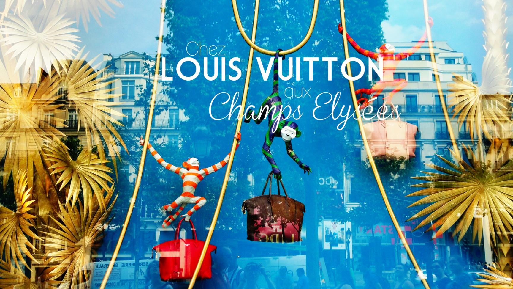 Boutique Louis Vitton, Champs Elysées - Vitrine