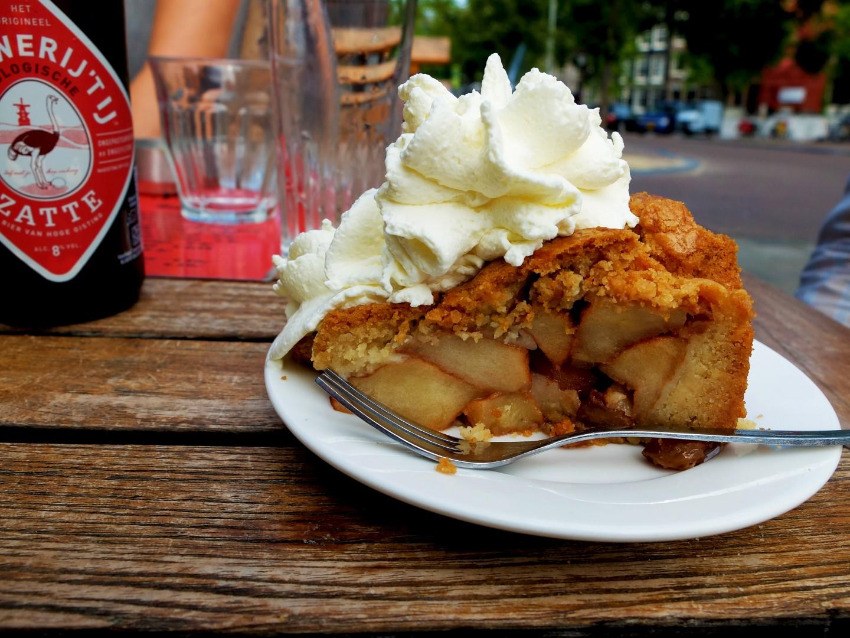 Amsterdam - La tarte aux pommes de chez Winkel