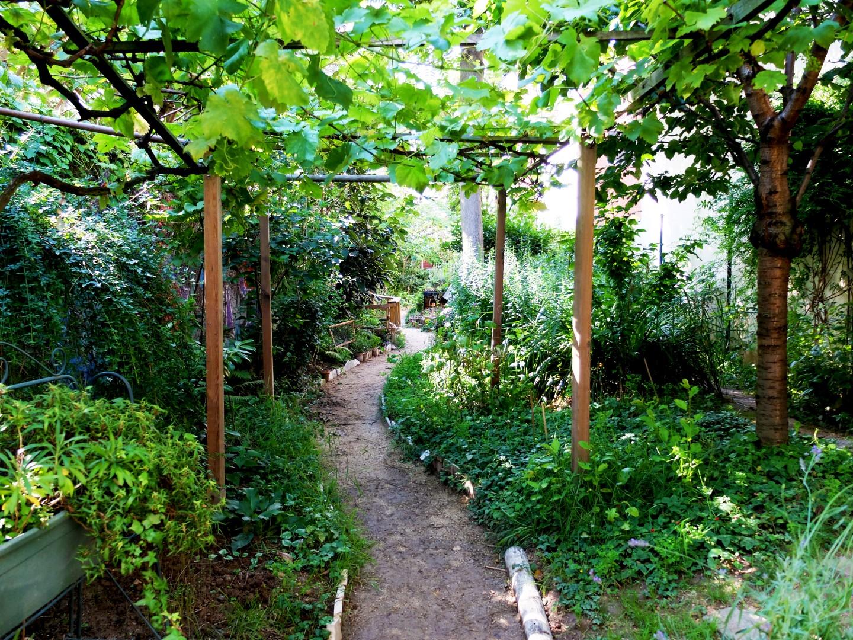 Balade dans le quartier de Ménilmontant - Jardin des Soupirs