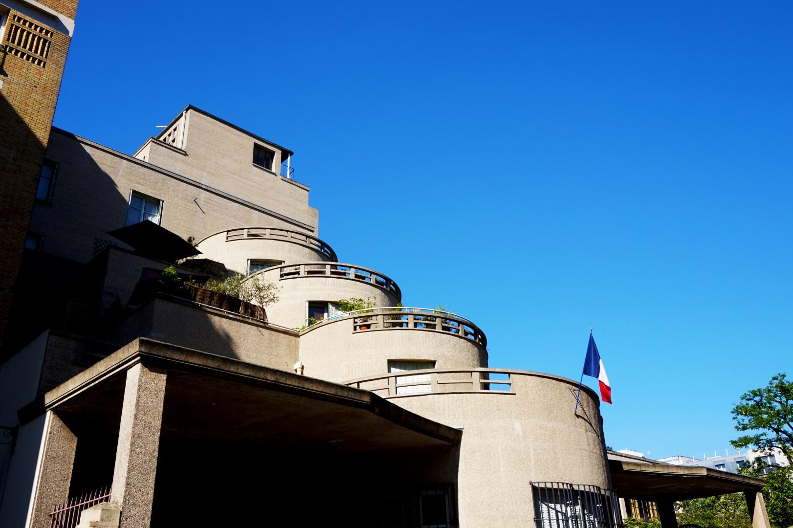 Balade autour de la Butte aux Cailles ( 13e) - Rue Küss - Groupe scolaire Expert