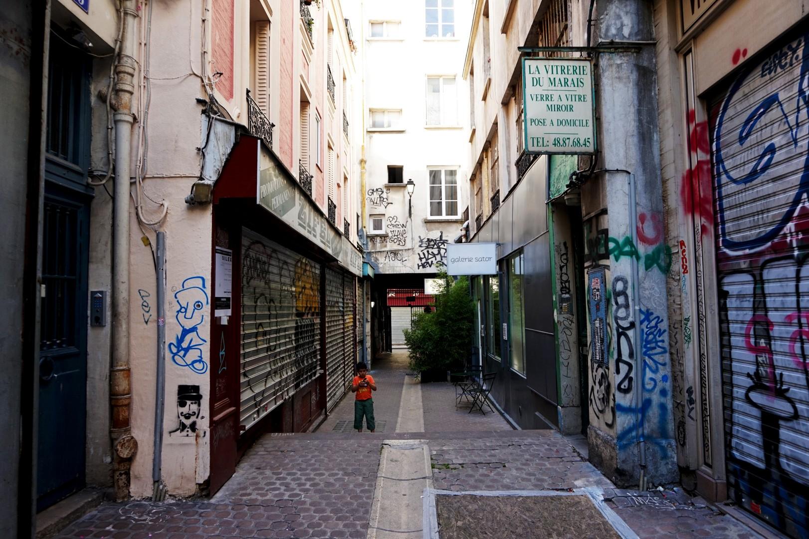 Balade dans le quartier Arts et Métier (3e) - Passage des Gravilliers