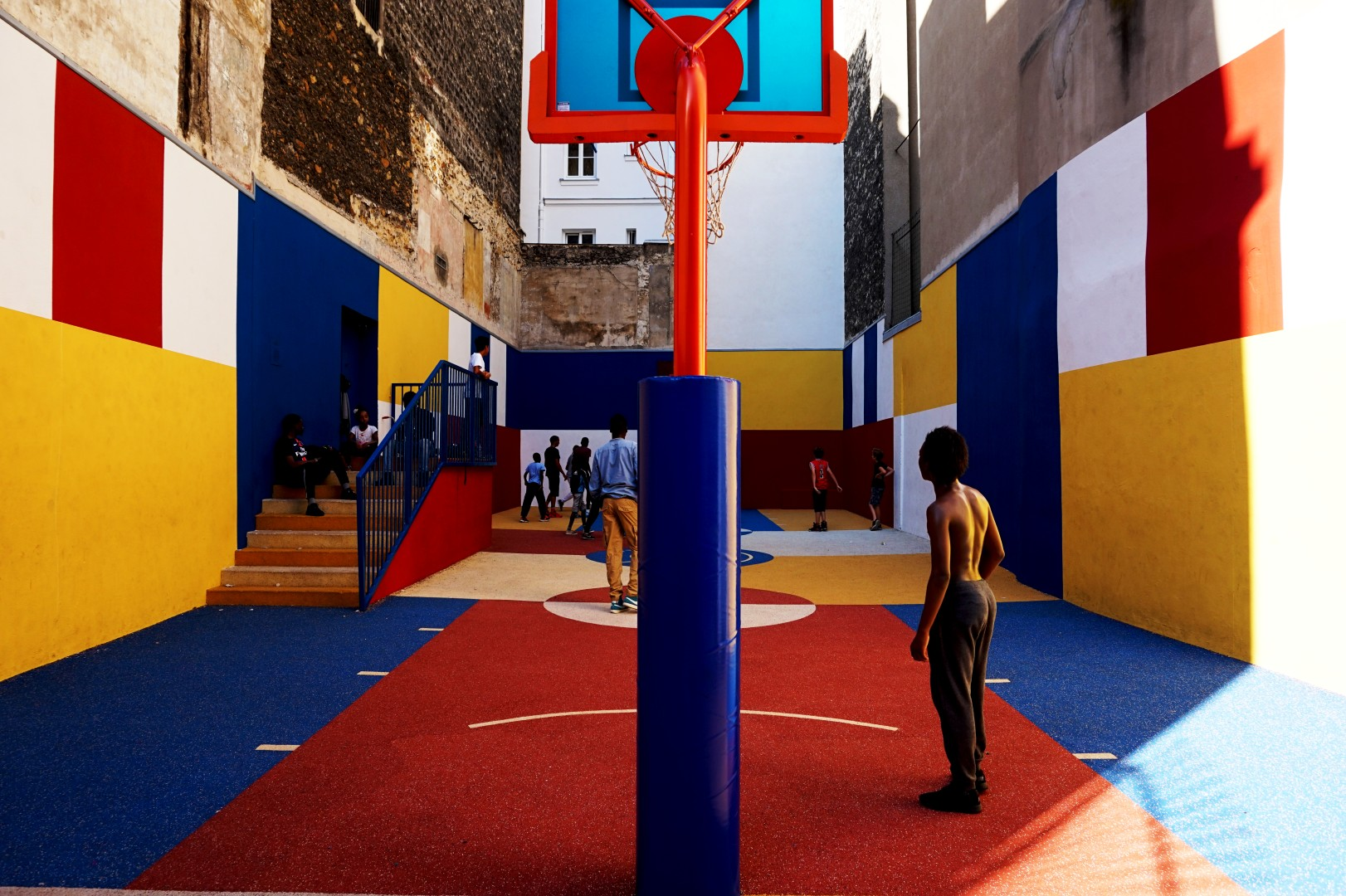 Terrain de basket, Paris 9e