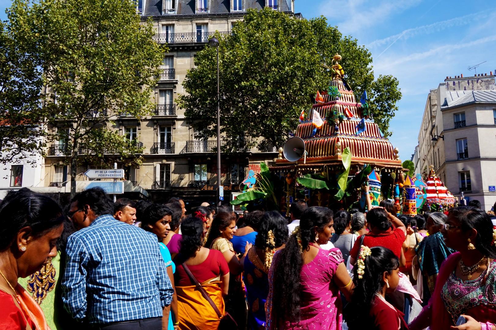 La fête de Ganesh, Paris 18e