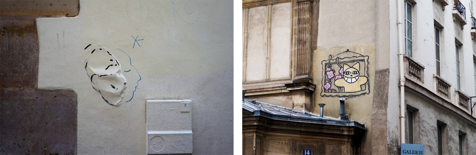de l'art sur les Murs - Rue Visconti et rue Bonaparte