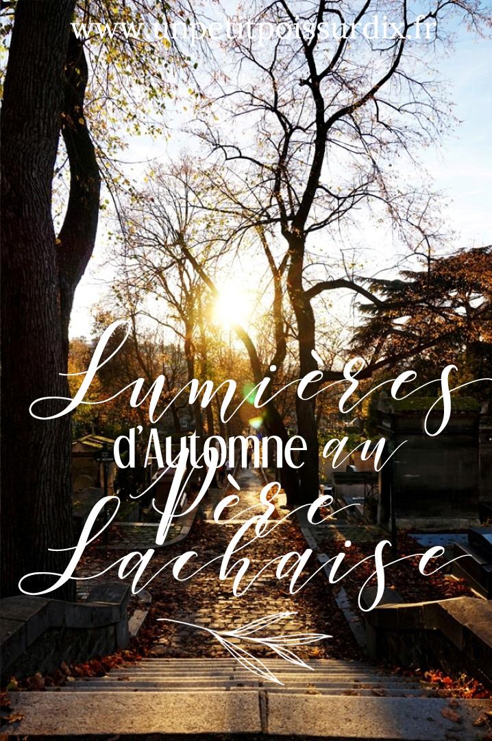 Balade d'automne au cimetière du Père Lachaise