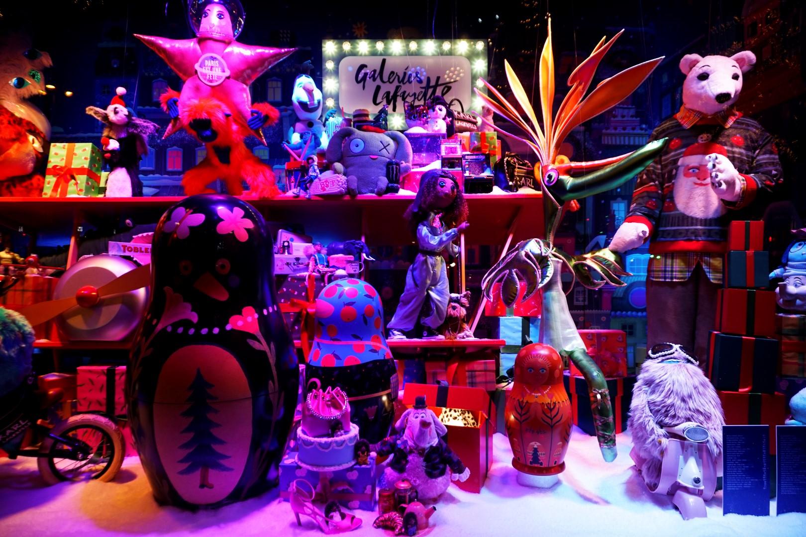 Balade de Noël à travers Paris - du Bon Marché aux Galeries Lafayette - Vitrines de Noël des Galeries Lafayette