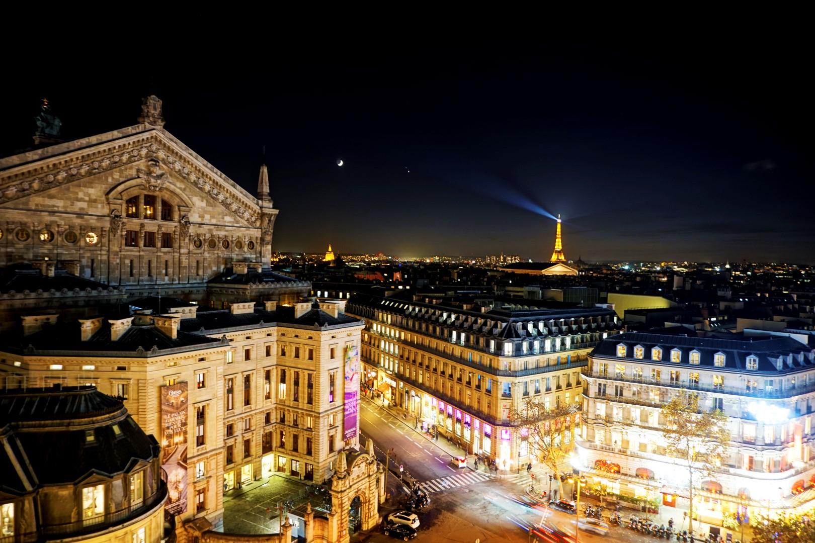 Balade de Noël à travers Paris - du Bon Marché aux Galeries Lafayette - Vue sur Paris depuis les Galeries Lafayette