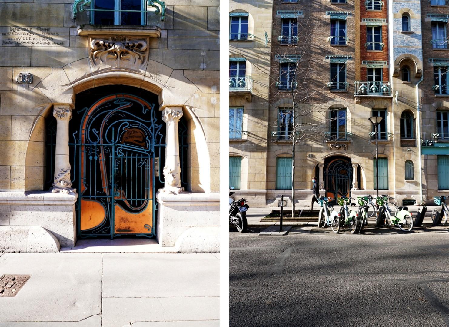 Balade dans le 16e, voies cachées et Art Nouveau - rue de la Fontaine, Hector Guimard - Castel Béranger