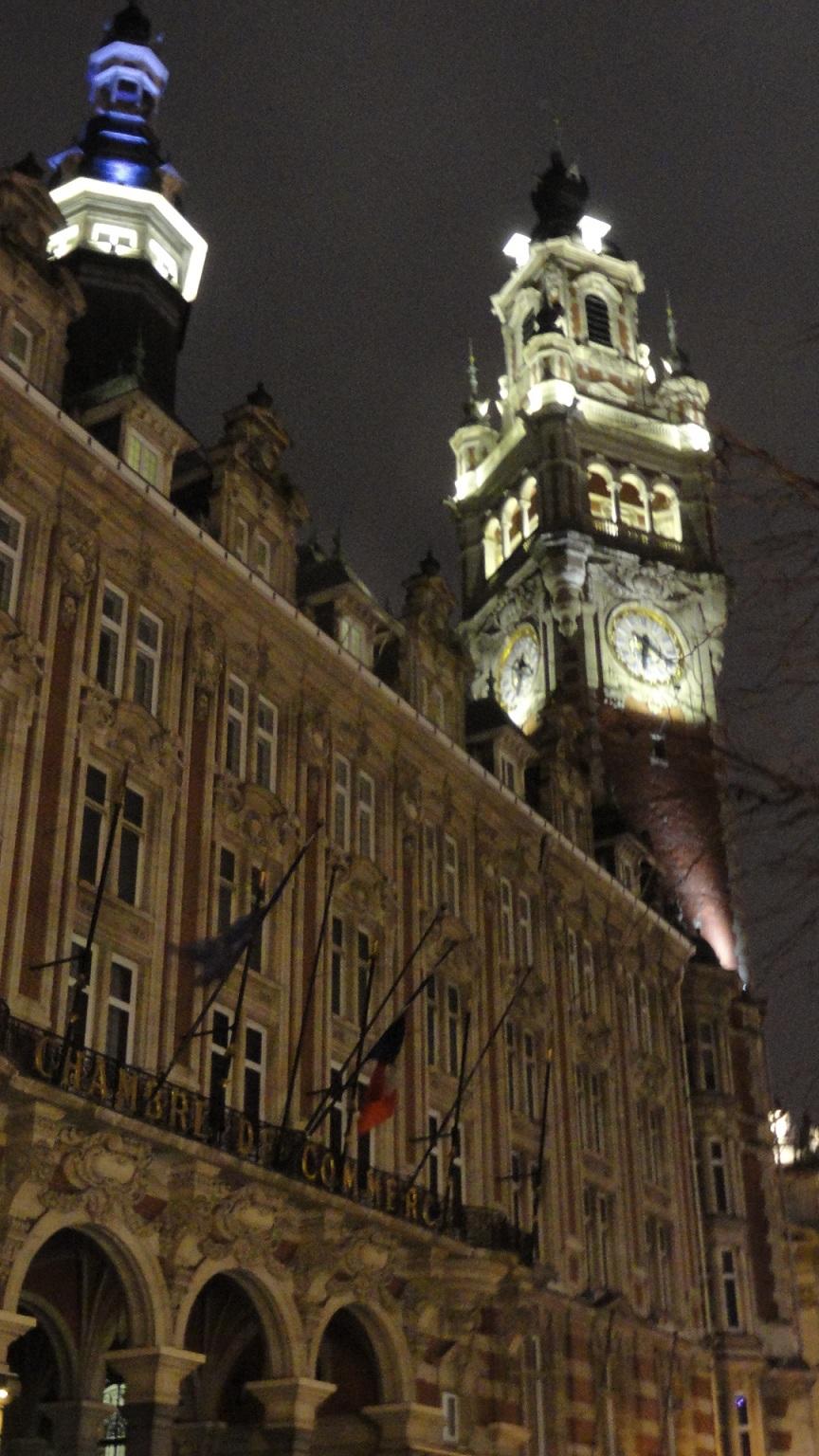 Lille - La Chambre de Commerce et d'Industrie et son Beffroi
