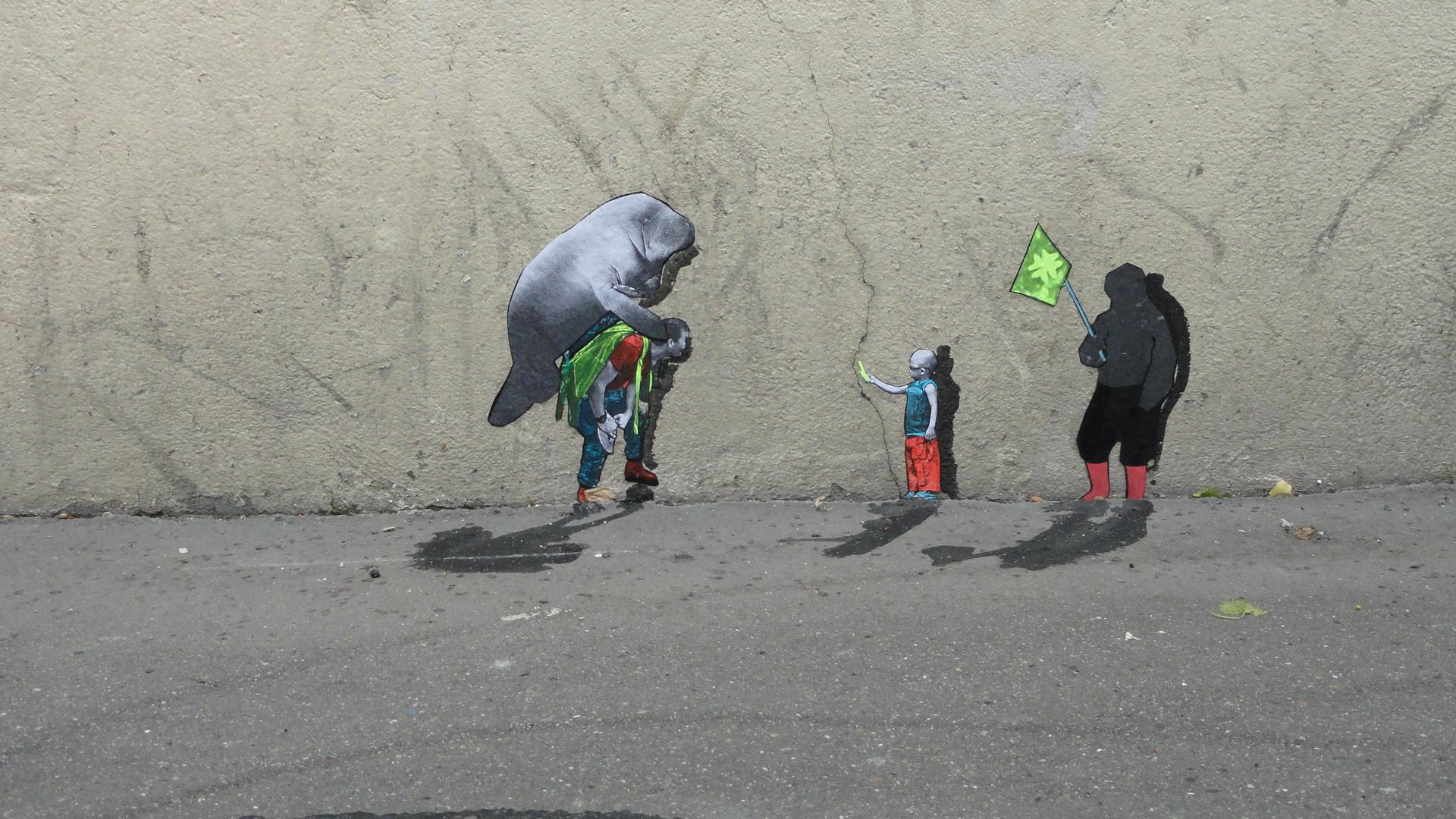 Rue Jouye-Rouve - Mini street art