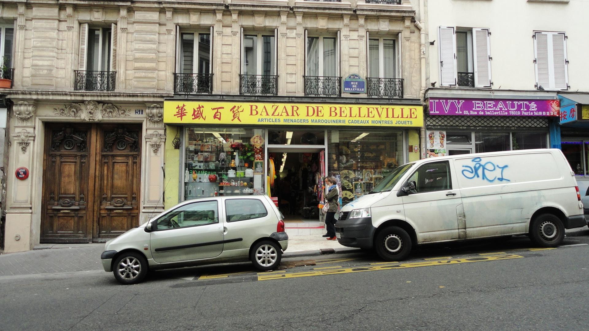 L'Asie rue de Belleville - Devantures