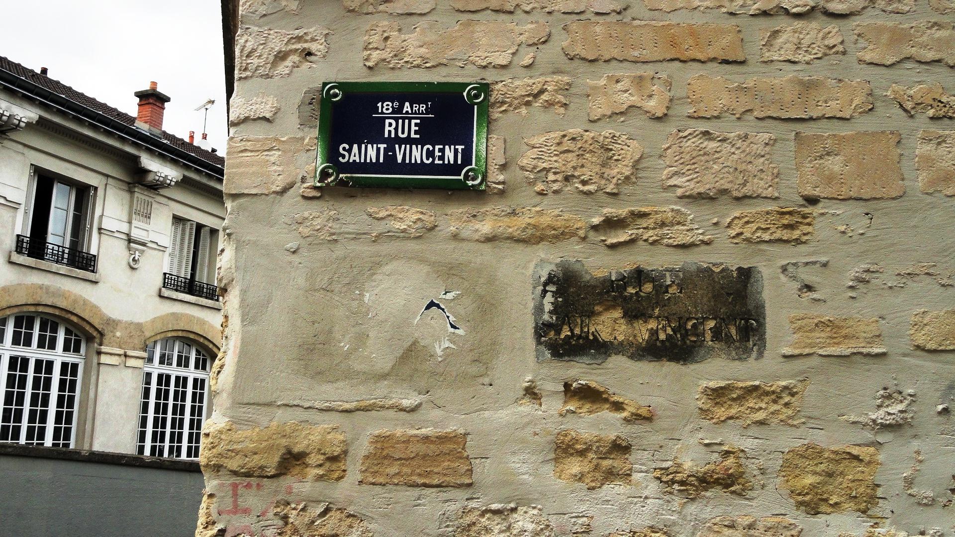 Rue Saint Vincent, Plaque
