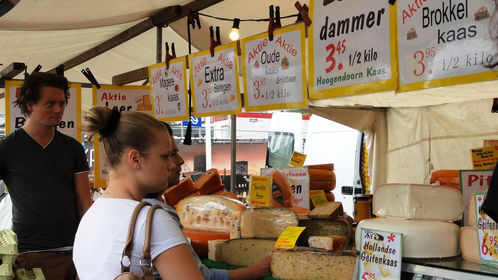 Rotterdam - Marché de Binnenrotte - Marchand de fromages