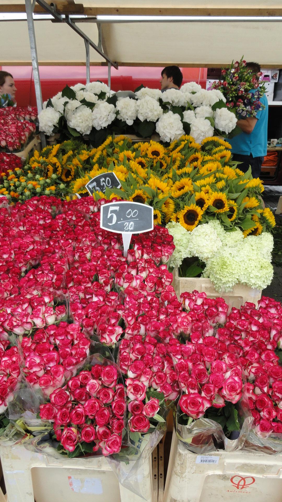 Rotterdam - Marché de Binnenrotte - Fleurs