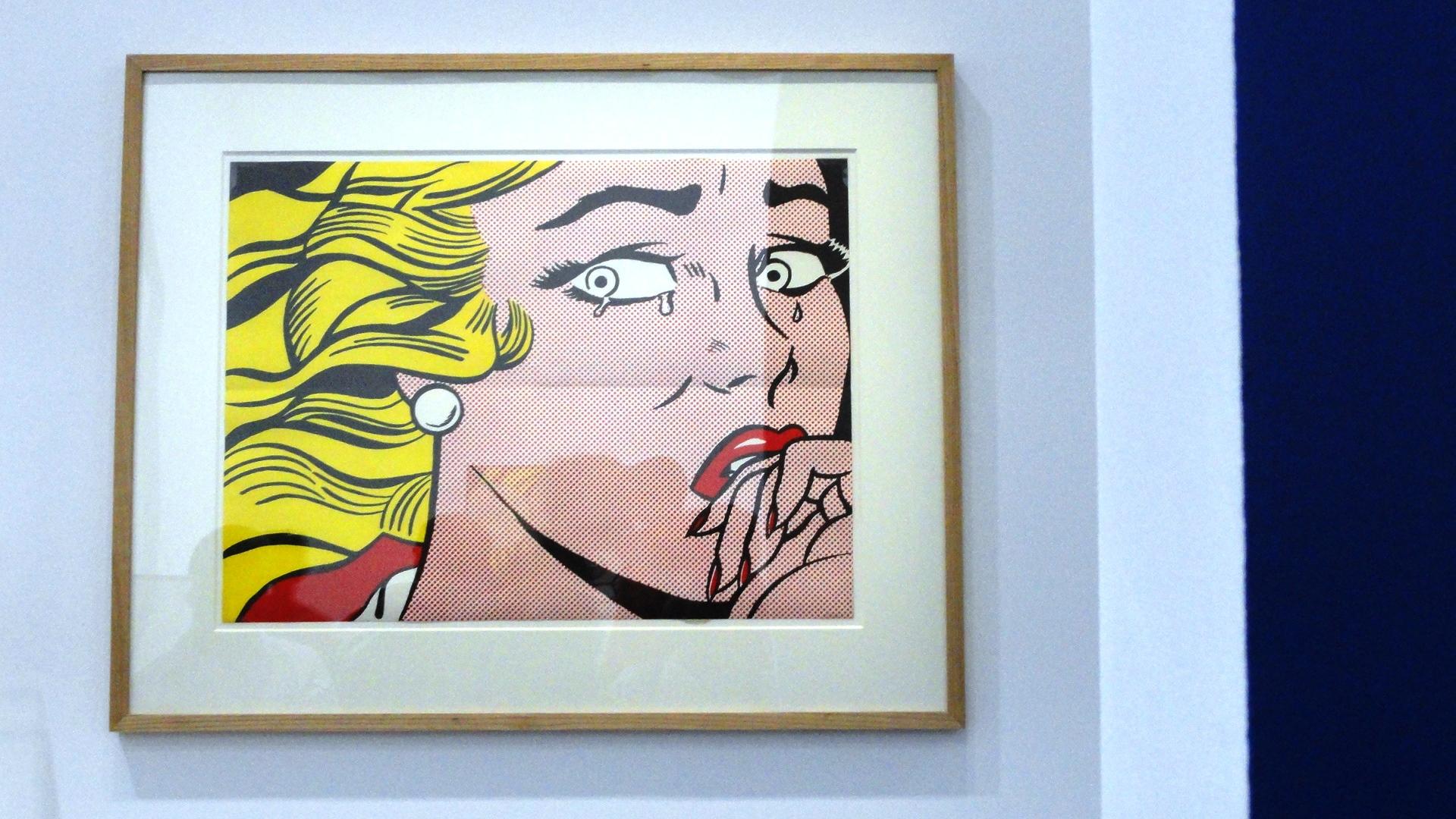 """Rétrospective de Roy Lichtenstein, Centre Pompidou - Des sujets émotionnels dans un style détaché - Tableau """"comics"""""""