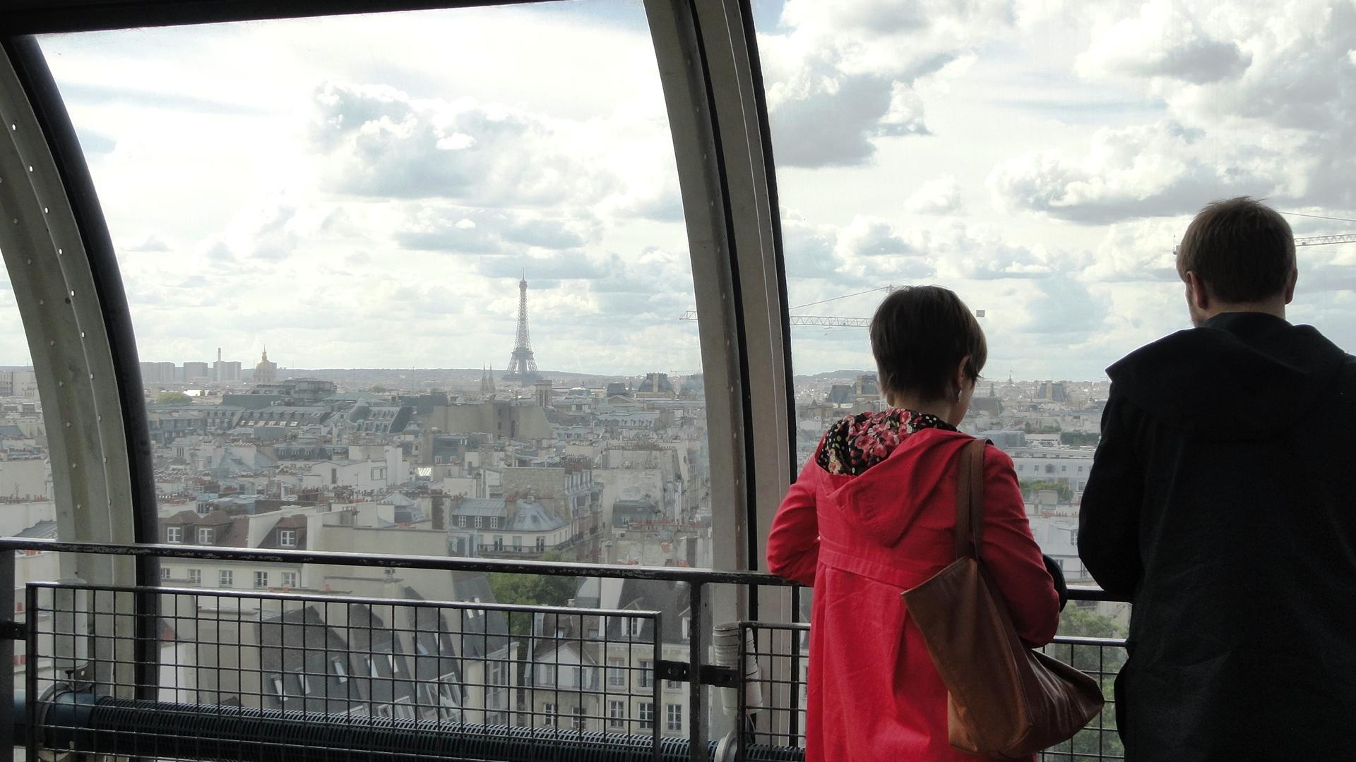 Centre Pompidou - Vue sur Paris