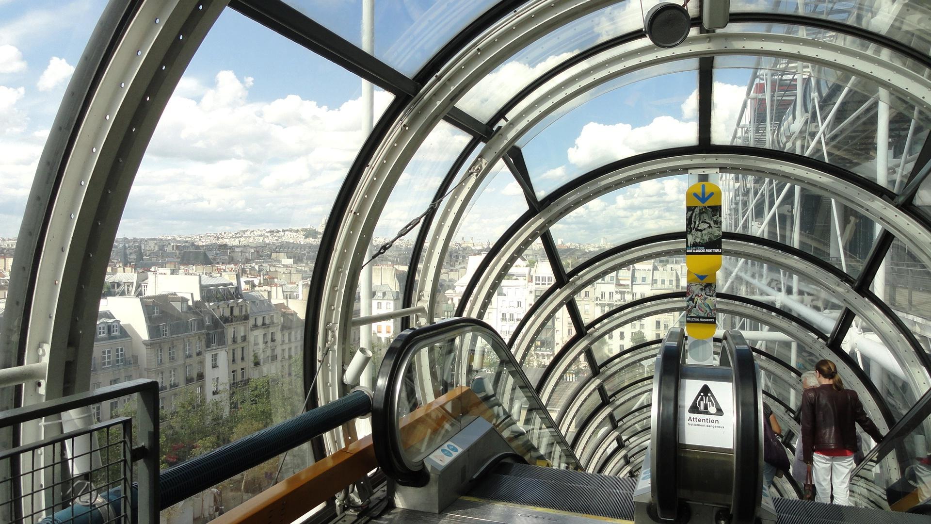 Centre Pompidou - L'escalator