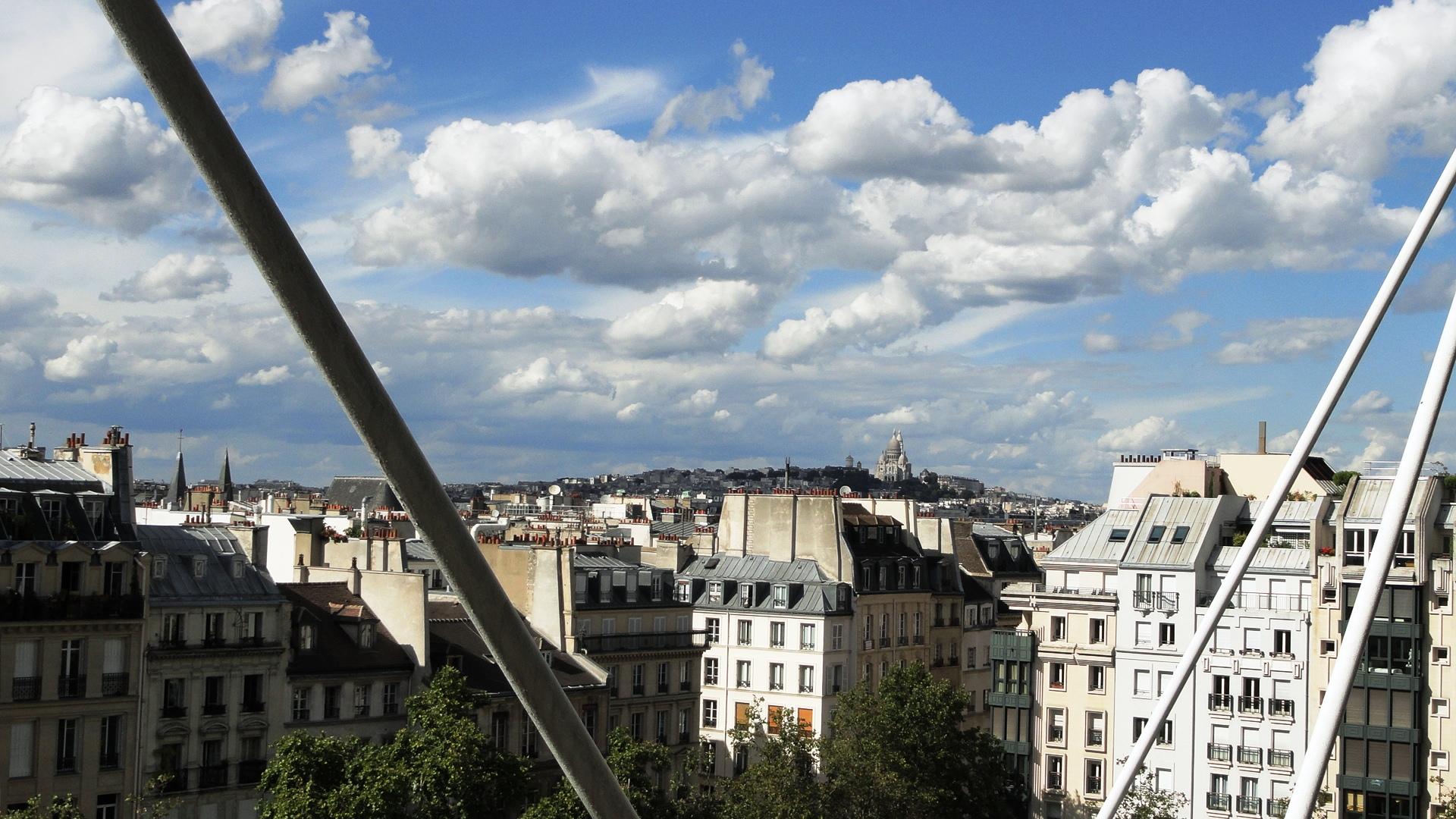 Centre Pompidou - Vue sur le Sacré Coeur