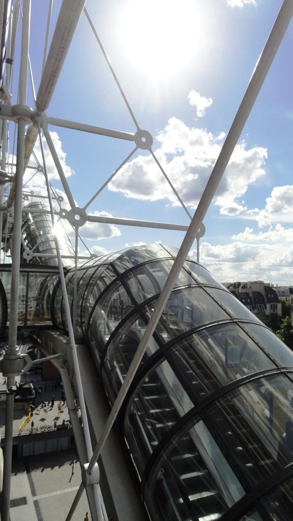 Centre Pompidou - Son escalier