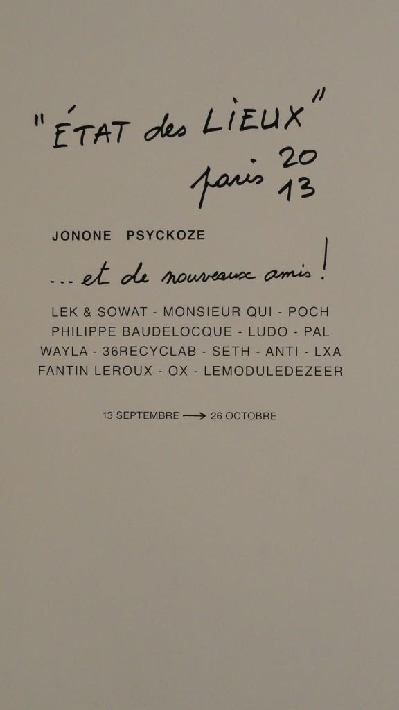 Etat des Lieux 2013 - Galerie du jour, Agnès b. - Artistes invités