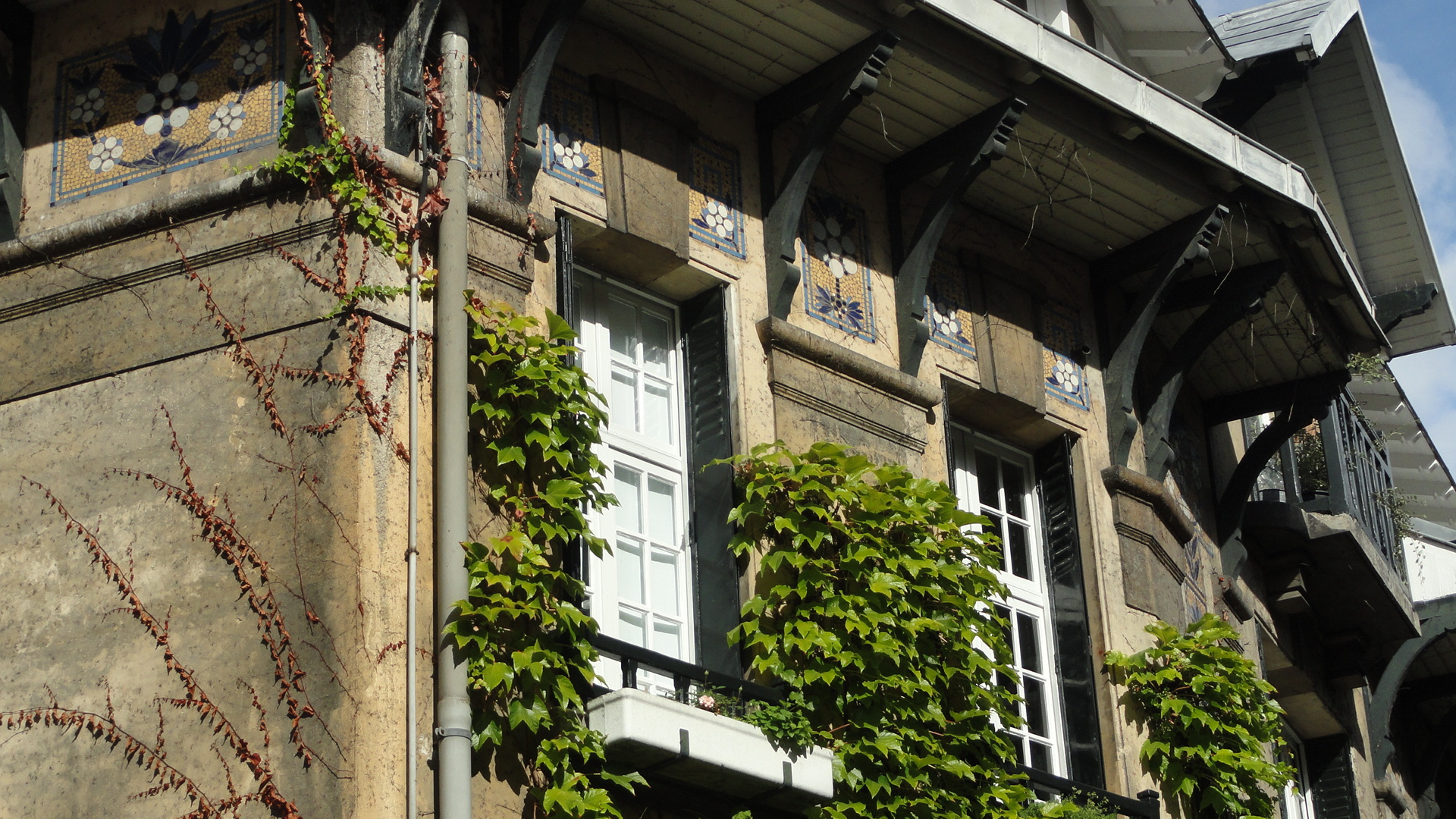 Rue du Square Montsouris, Paris 14e - Maison, détail