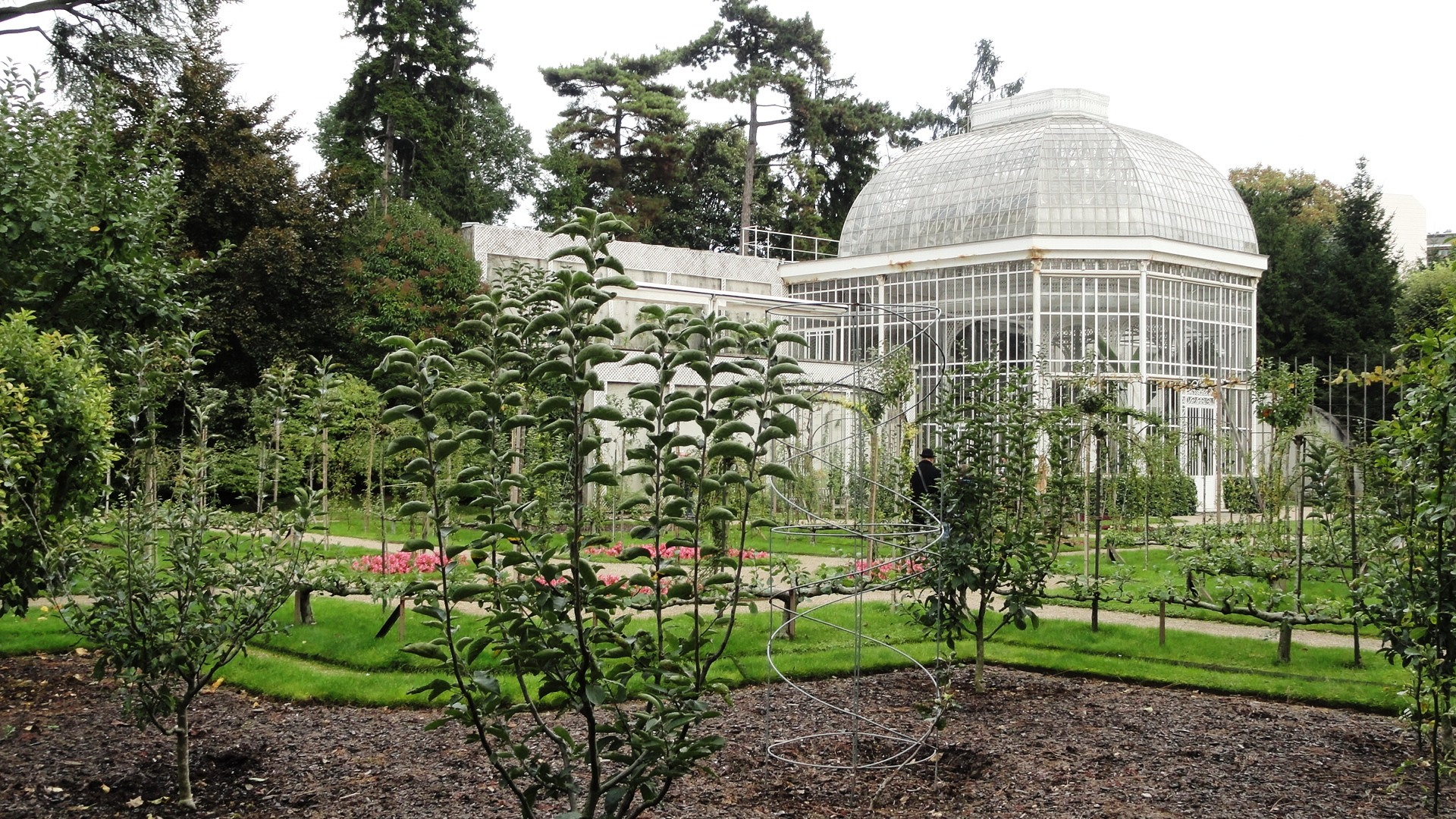 Jardins Albert Kahn - Verger et roseraie - Serre