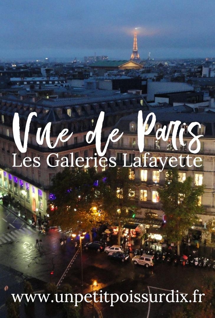 Vues de Paris - Depuis les Galeries Lafayette